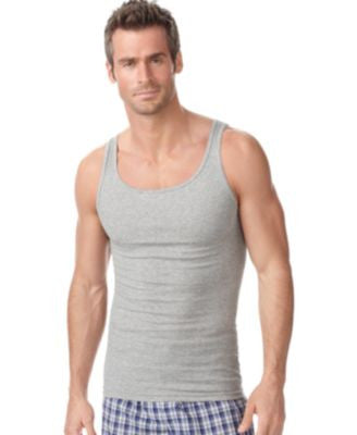 Alfani Men's Underwear, Tagless Tank Top Rib 4 Pack