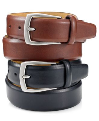Tasso Elba 32mm Italian Vachetta Grain Feather Edge Dress Belt