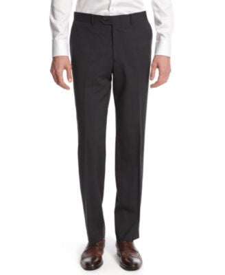 Bar III Dark Charcoal Slim-Fit Pants