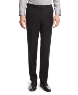 Bar III Black Solid Slim-Fit Pants