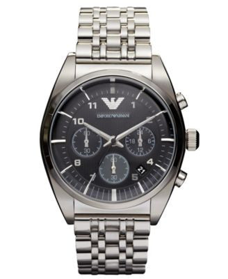 Emporio Armani Watch, Chronograph Stainless Steel Bracelet 43mm AR0373