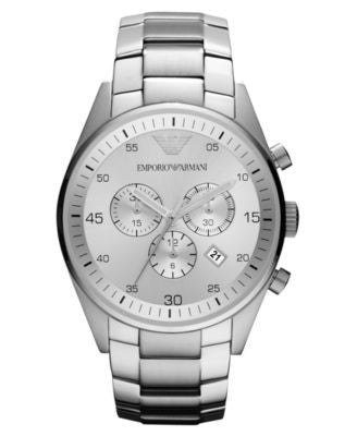 Emporio Armani Watch, Women's Chronograph Stainless Steel Bracelet 43mm AR5963