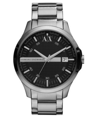 A|X Armani Exchange Watch, Men's Stainless Steel Bracelet 46mm AX2103