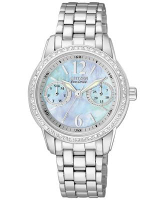 Citizen Women's Eco-Drive Stainless Steel Bracelet Watch 30mm FD1030-56Y