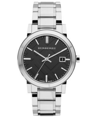 Burberry Watch, Men's Swiss Stainless Steel Bracelet 38mm BU9001