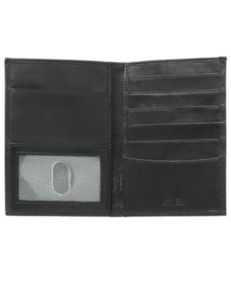 Tasso Elba Lamb Skin Passport Case Wallet