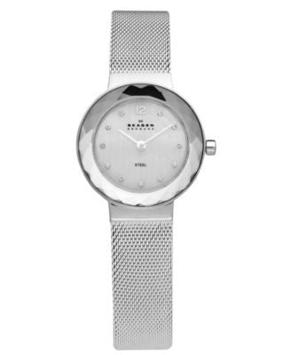 Skagen Watch, Women's Stainless Steel Mesh Bracelet 25mm 456SSS