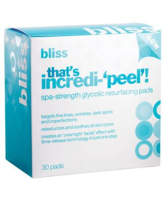 bliss that's incredi-'peel'! resurfacing pads
