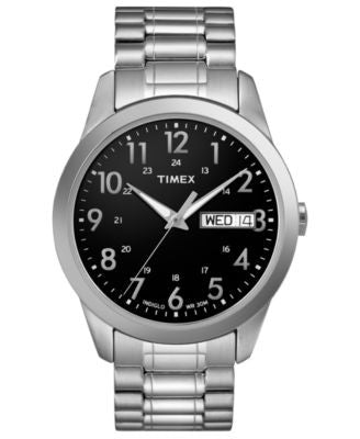 Timex Watch, Men's Silver-Tone Brass Expansion Bracelet 36mm T2M932UM