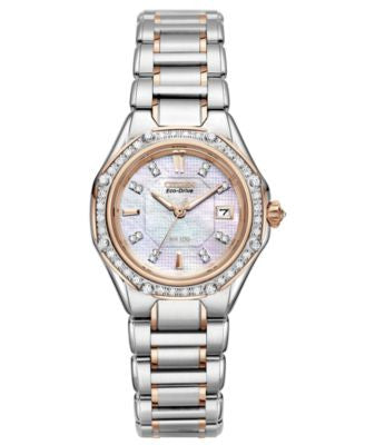 Citizen Women's Signature Octavia Eco-Drive Diamond (1/2 ct. t.w.) Two Tone Stainless Steel Bracelet