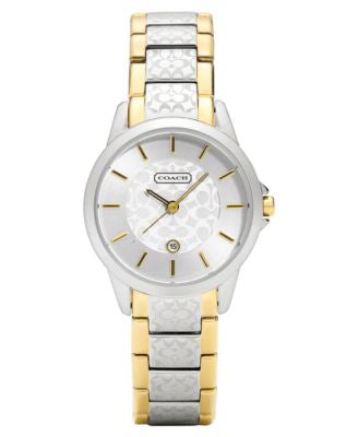 COACH WOMEN'S CLASSIC SIGNATURE TWO-TONE BRACELET WATCH 15MM 14501430