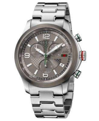 Gucci Watch, Unisex Swiss Chronograph G-Timeless Stainless Steel Bracelet 44mm YA126238
