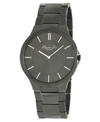 Kenneth Cole New York Watch, Men's Gunmetal Ion Plated Stainless Steel Bracelet 44mm KC9109