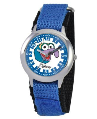 Disney Watch, Kid's Muppets Gonzo Time Teacher Blue Velcro Strap 30mm W000163