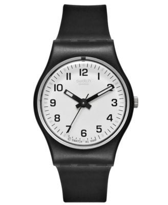 Swatch Watch, Women's Swiss Something New Black Strap 25mm LB153