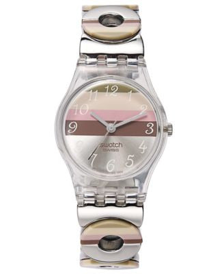 Swatch Watch, Women's Swiss Multi-Colored Enamel Stainless Steel Link Bracelet 25mm LK258G
