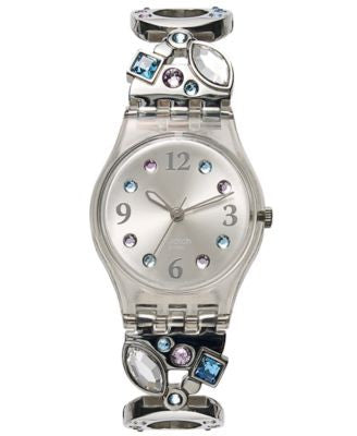 Swatch Watch, Women's Swiss Menthol Tone Stainless Steel Link Bracelet 25mm LK292G