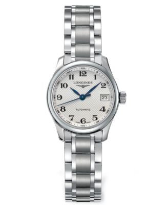 Longines Watch, Women's Swiss Automatic Master Stainless Steel Bracelet 26mm L21284786