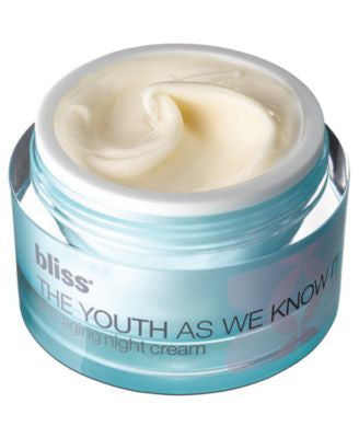 bliss youth as we know it anti-aging night cream