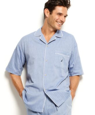 Nautica Men's Anchor Pajama Camp Shirt