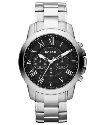 Fossil Men's Chronograph Grant Stainless Steel Bracelet Watch 44mm FS4736