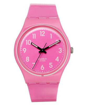 Swatch Watch, Unisex Swiss Dragon Fruit Shiny Pink Strap 34mm GP128