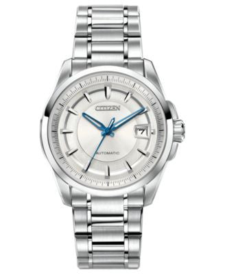Citizen Men's Automatic Signature Grand Classic Stainless Steel Bracelet Watch 42mm NB0040-58A