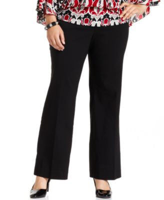 Style & Co. Plus Size Pants, Straight-Leg Trousers