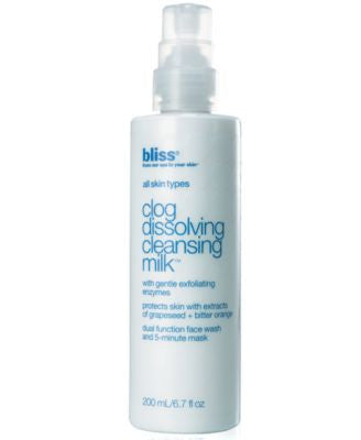 Bliss Clog Dissolving Cleansing Milk, 6.7 oz.