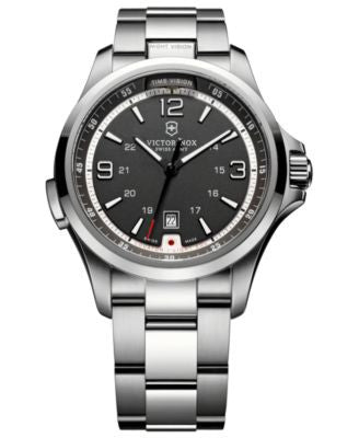 Victorinox Swiss Army Watch, Men's Night Vision Stainless Steel Bracelet 42mm 241569