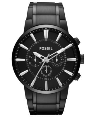 Fossil Men's Chronograph Black Tone Stainless Steel Bracelet Watch 48mm FS4778
