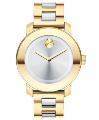 Movado Women's Swiss Bold Medium Two-Tone Stainless Steel Bracelet Watch 36mm 3600129