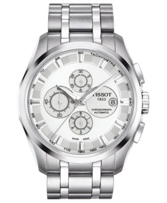 Tissot Watch, Men's Swiss Automatic Chronograph Couturier Stainless Steel Bracelet 43mm T03562711031