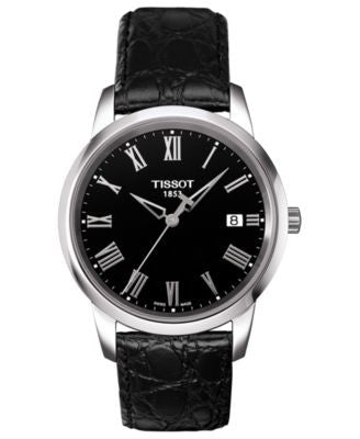 Tissot Watch, Men's Swiss Classic Dream Black Leather Strap 38mm T0334101605301