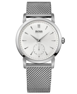 BOSS Hugo Boss Watch, Men's Stainless Steel Mesh Bracelet 40mm HB1013 1512778