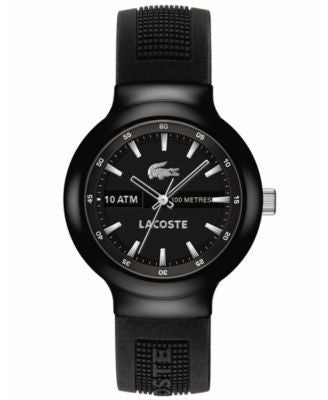 Lacoste L!VE Watch, Men's Borneo Black Silicone Strap 44mm 2010657