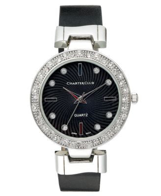Charter Club Women's Black Polyurethane Strap 34mm