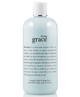 philosophy living grace 3-in-1 shampoo, shower gel & bubble bath, 16 oz