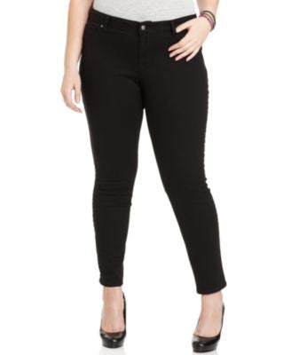 Jessica Simpson Plus Size Kiss Me Jeggings, Black Wash
