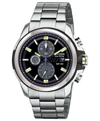 Citizen Men's Chronograph Drive from Citizen Eco-Drive Stainless Steel Bracelet Watch 45mm CA0428-56