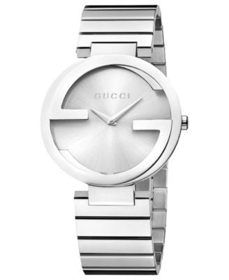 Gucci Watch, Unisex Swiss Interlocking Stainless Steel Bracelet 37mm YA133308