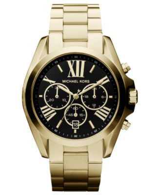 Michael Kors Women's Chronograph Bradshaw Gold-Tone Stainless Steel Bracelet Watch 43mm MK5739