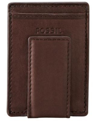 Fossil Ingram Magnetic Card Case Leather Wallet