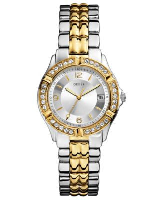 GUESS Watch, Women's Two-Tone Stainless Steel Bracelet 36mm U0026L1