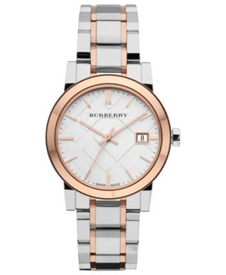 Burberry Watch, Women's Swiss Two-Tone Stainless Steel Bracelet 34mm BU9105