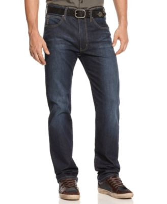 Armani Jeans Men's Straight-Fit Jeans, Medium Dark Blue Wash