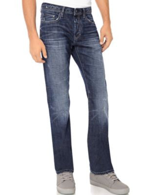 Buffalo David Bitton Men's Driven Fit Straight Leg Jeans, Slight Sandblasted Wash