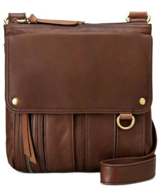 Fossil Morgan Leather Traveler Crossbody Bag