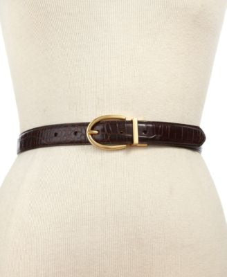 Lauren Ralph Lauren Croc to Smooth Reversible Belt