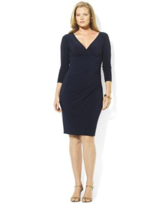 Lauren Ralph Lauren Plus Size Long-Sleeve Sheath Dress